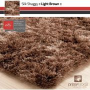 Tapete Silk Shaggy Light Brown, Marrom Bronze, Fio de Seda 40mm 2,00 x 3,00m