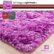 Tapete Silk Shaggy Light Purple, Rosa Púrpura, Fio de Seda 40mm 0,50 x 1,00m