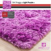 Tapete Silk Shaggy Light Purple, Rosa Púrpura, Fio de Seda 40mm 3,00 x 4,00m