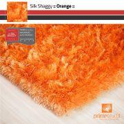 Tapete Silk Shaggy Orange - Laranja - Fios de Seda* 40mm