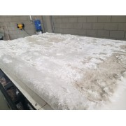 Tapete Silk Shaggy White, Branco Pérola, Fio de Seda 40mm 0,50 x 1,00m