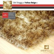 Tapete Silk Shaggy Yellow Beige - Bege Ouro - Fios de Seda* 40mm