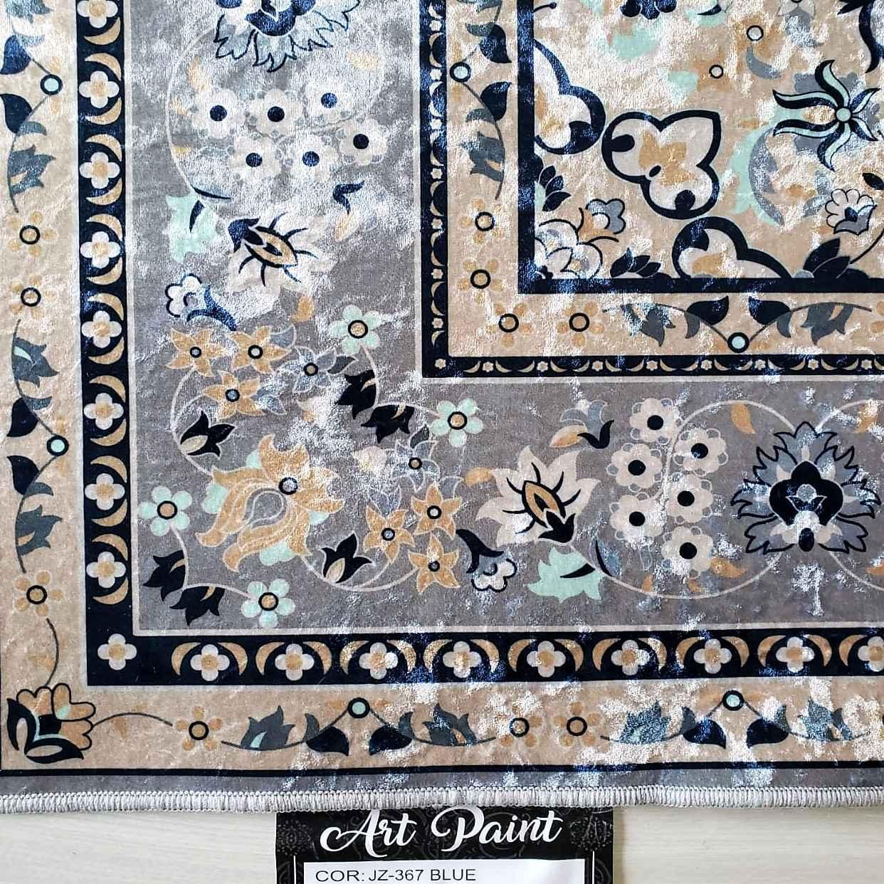 Tapete Importado Art Paint Estampado 1,50x2,00m BLUE JZ367