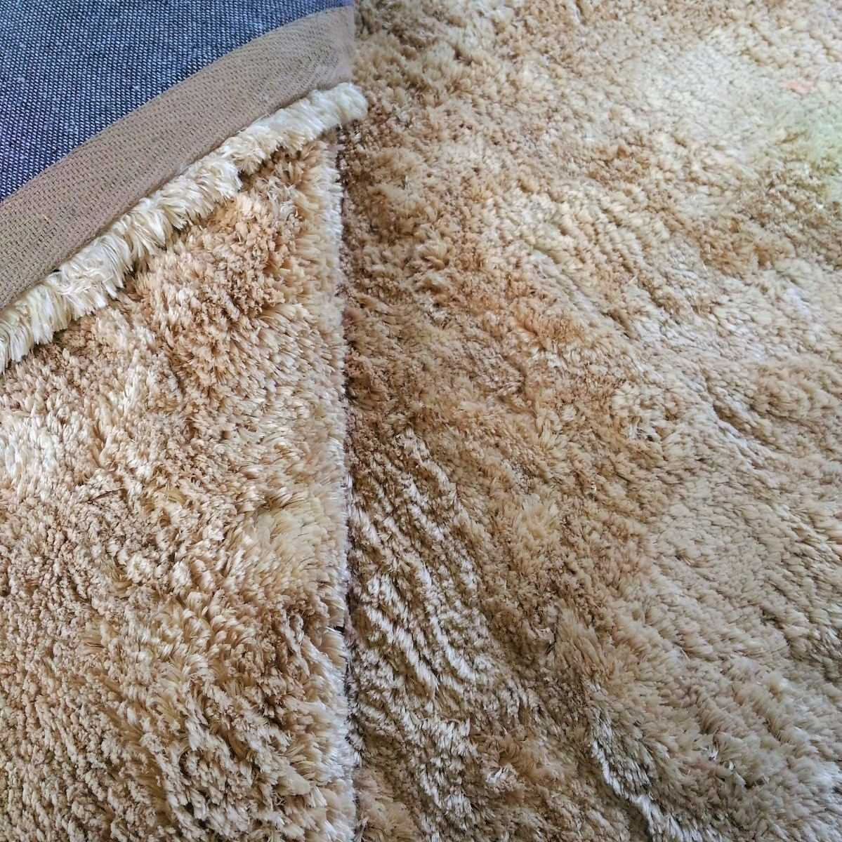 Tapete Art Shaggy Beige, Bege Creme, Lã de Seda 30mm 2,00 x 3,00m