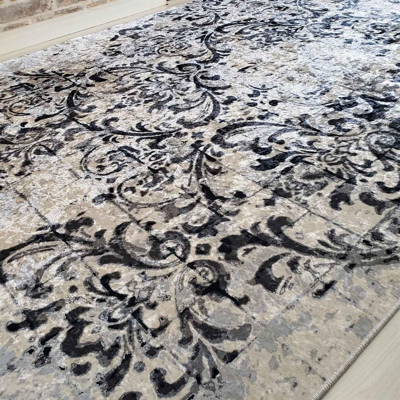 Tapete Importado Art Paint Estampado 1,50x2,00m GREY & BLACK JZ355