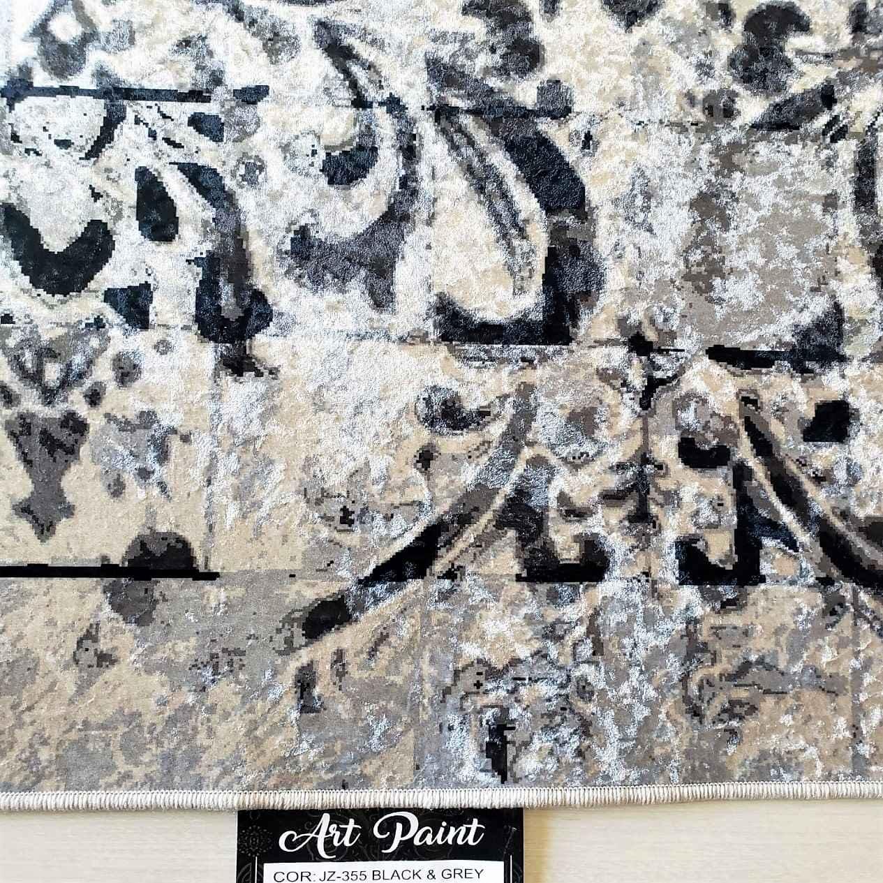 Tapete Importado Art Paint Estampado 2,00x2,50m GREY & BLACK JZ355