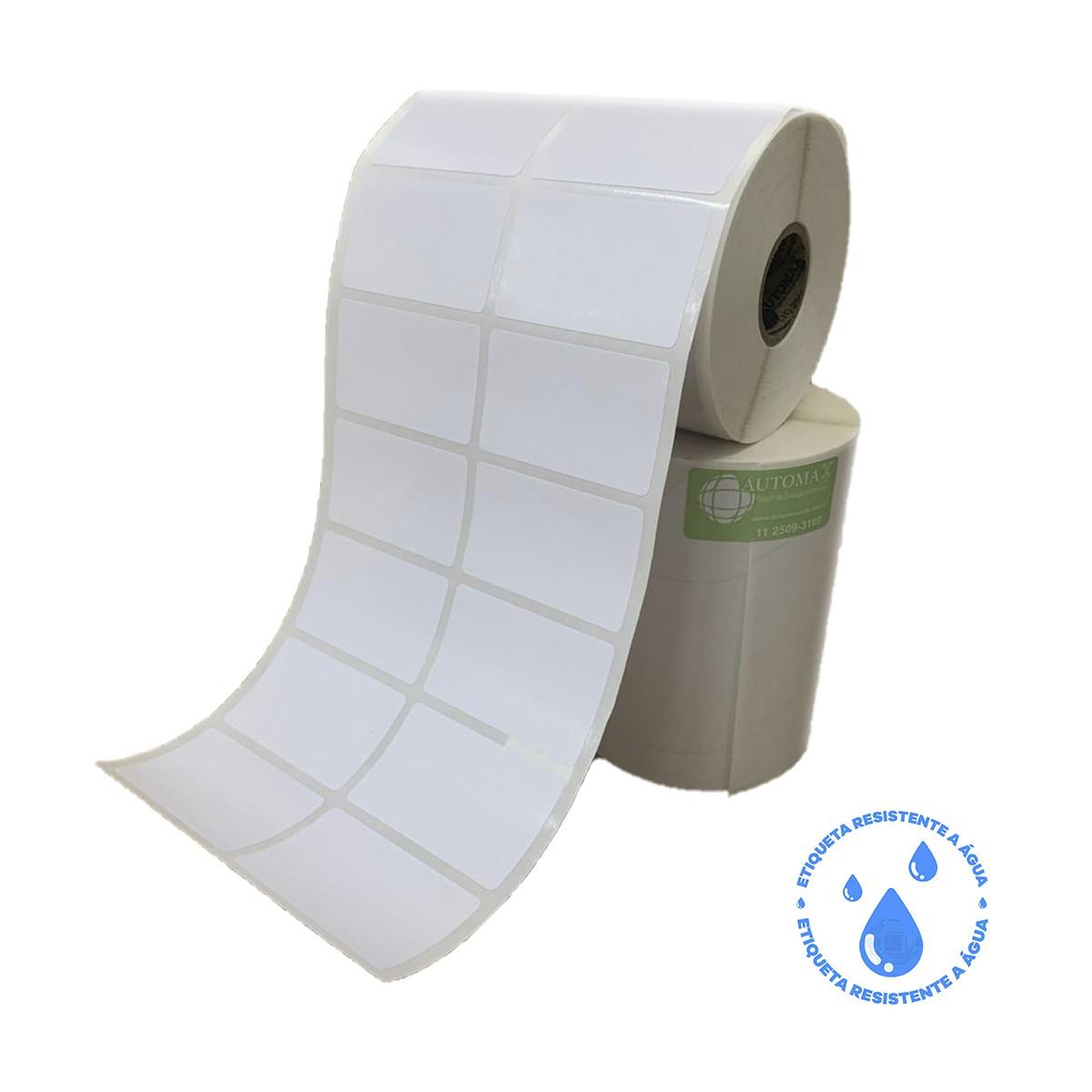 10 Rolos de Etiqueta BOPP 50x30 | 50mmX30mm 2 Colunas