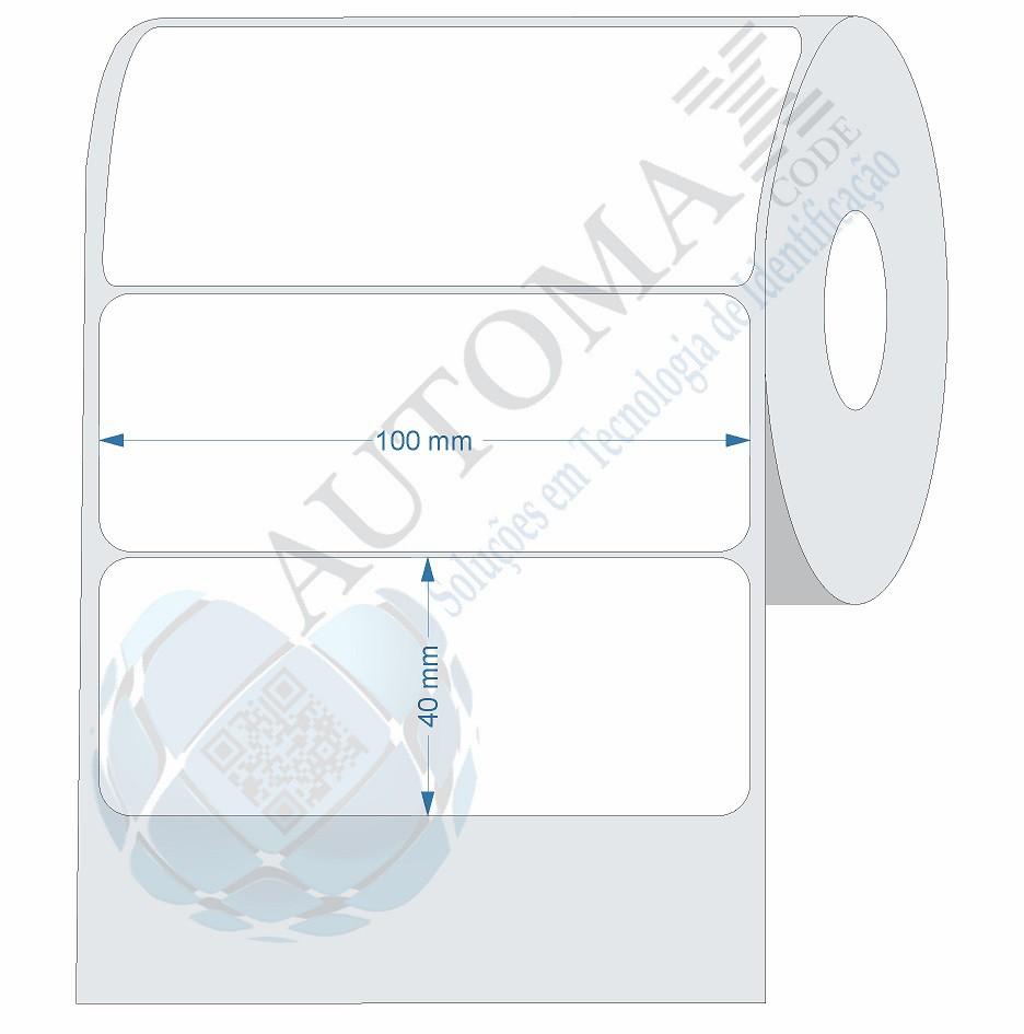 10 Rolos de Etiqueta Couche 10x4cm | 100mmX40mm