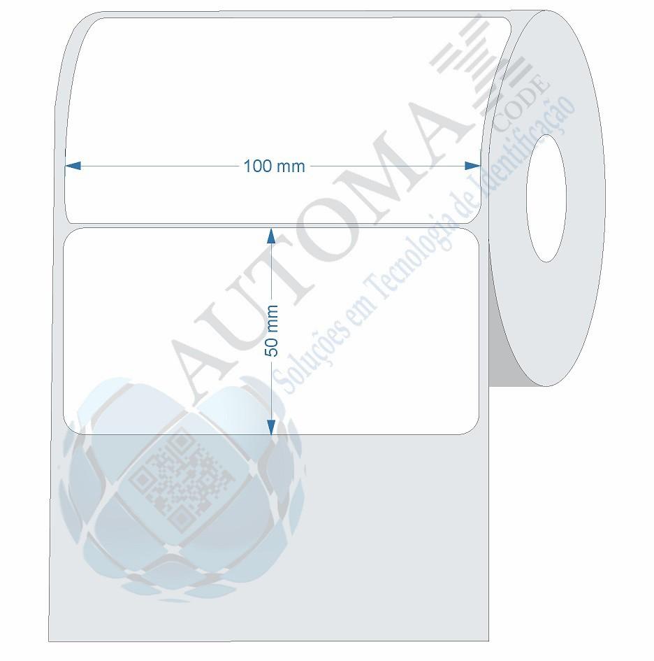 10 Rolos de Etiqueta Couche 10x5cm | 100mmX50mm