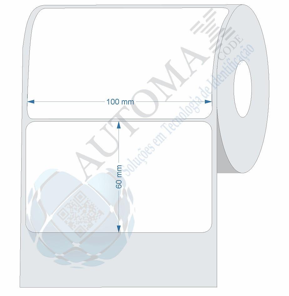 10 Rolos de Etiqueta Couche 10x6cm | 100mmX60mm