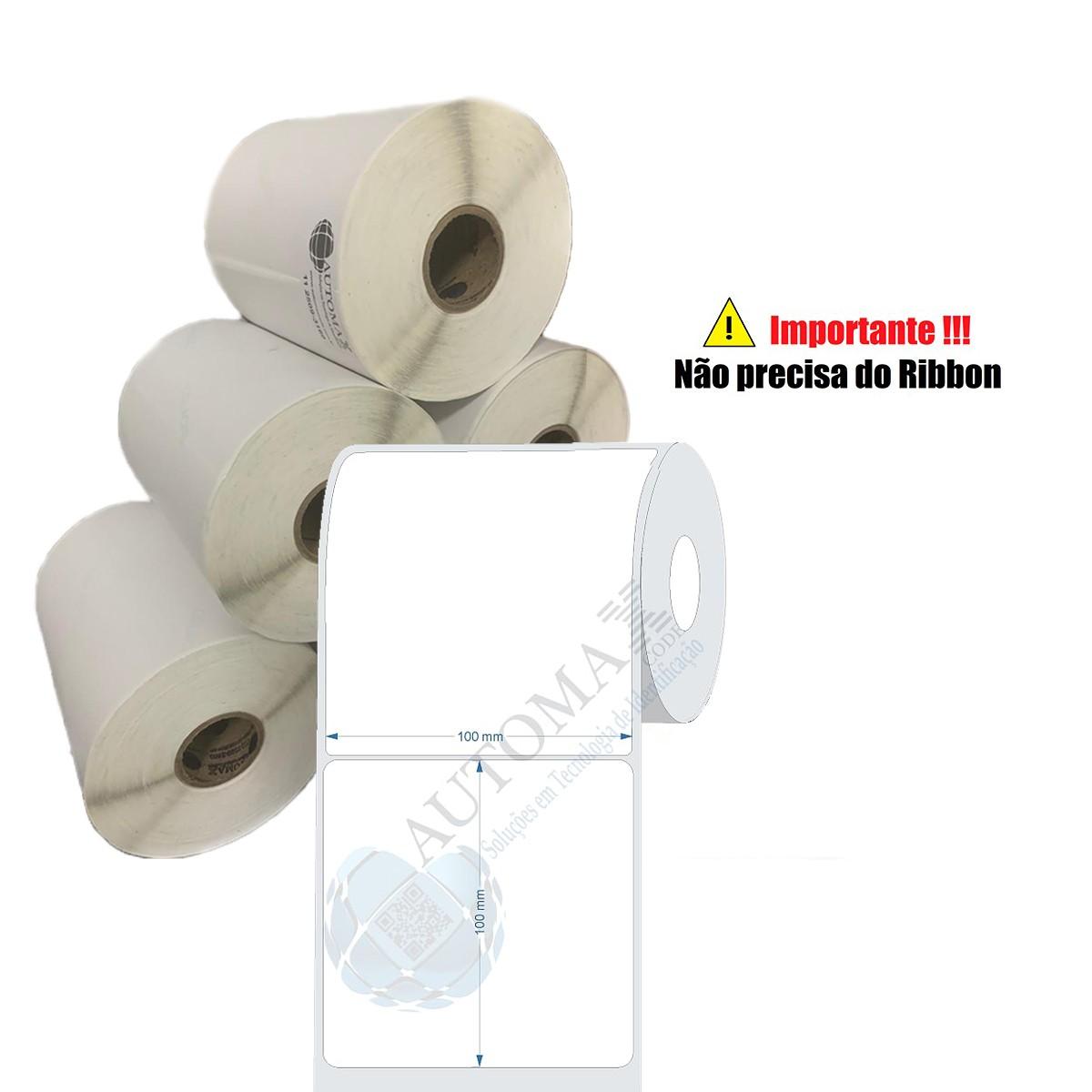 10 Rolos de Etiqueta Térmica 10x10cm| 100mmX100mm