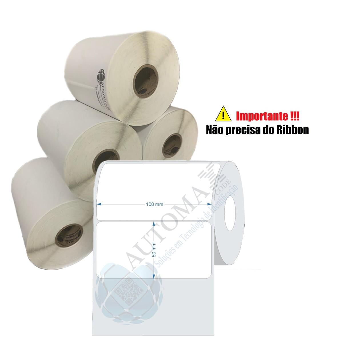 10 Rolos de Etiqueta Térmica 100x50| 100mmX50mm