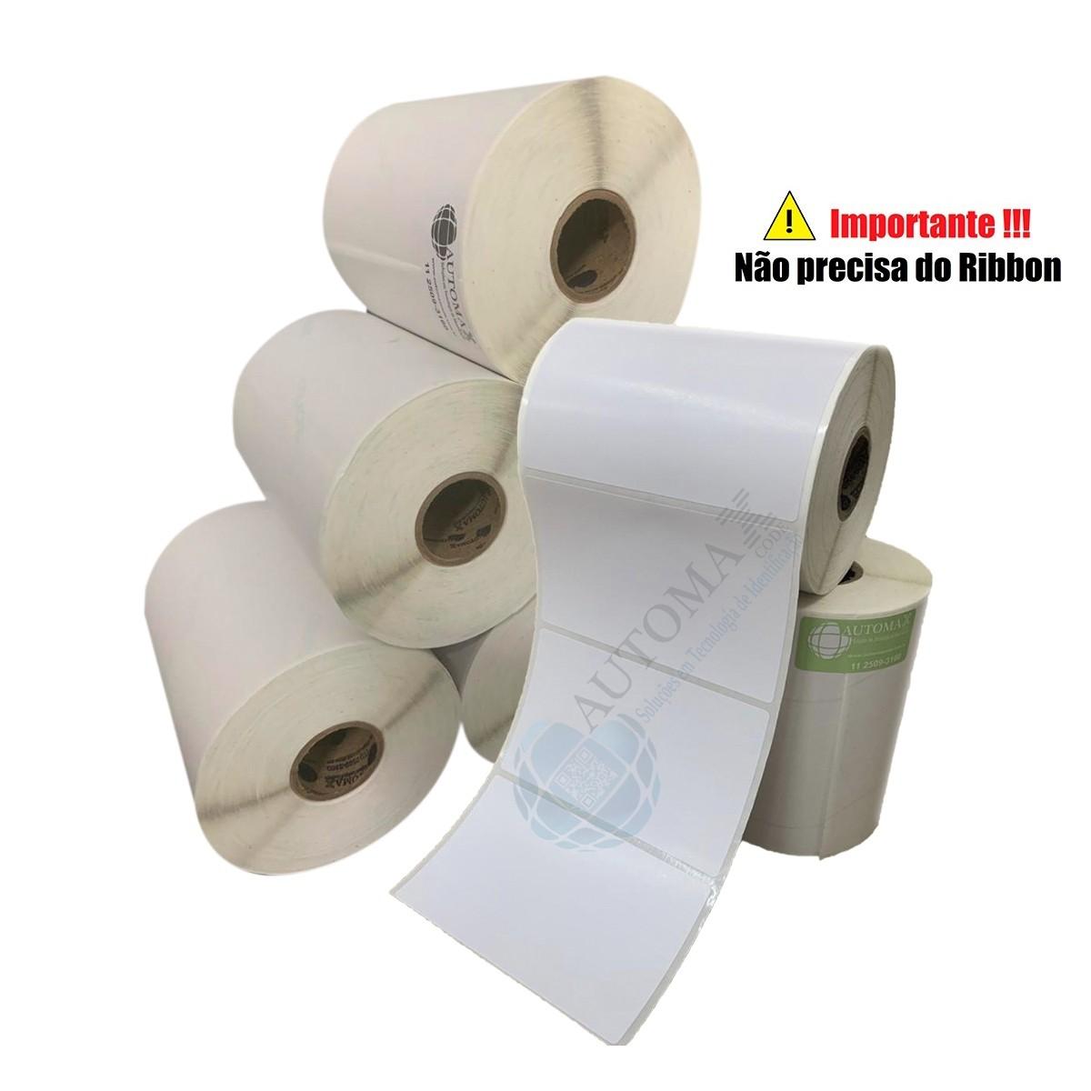10 Rolos de Etiqueta Térmica 100x75| 100mmX75mm