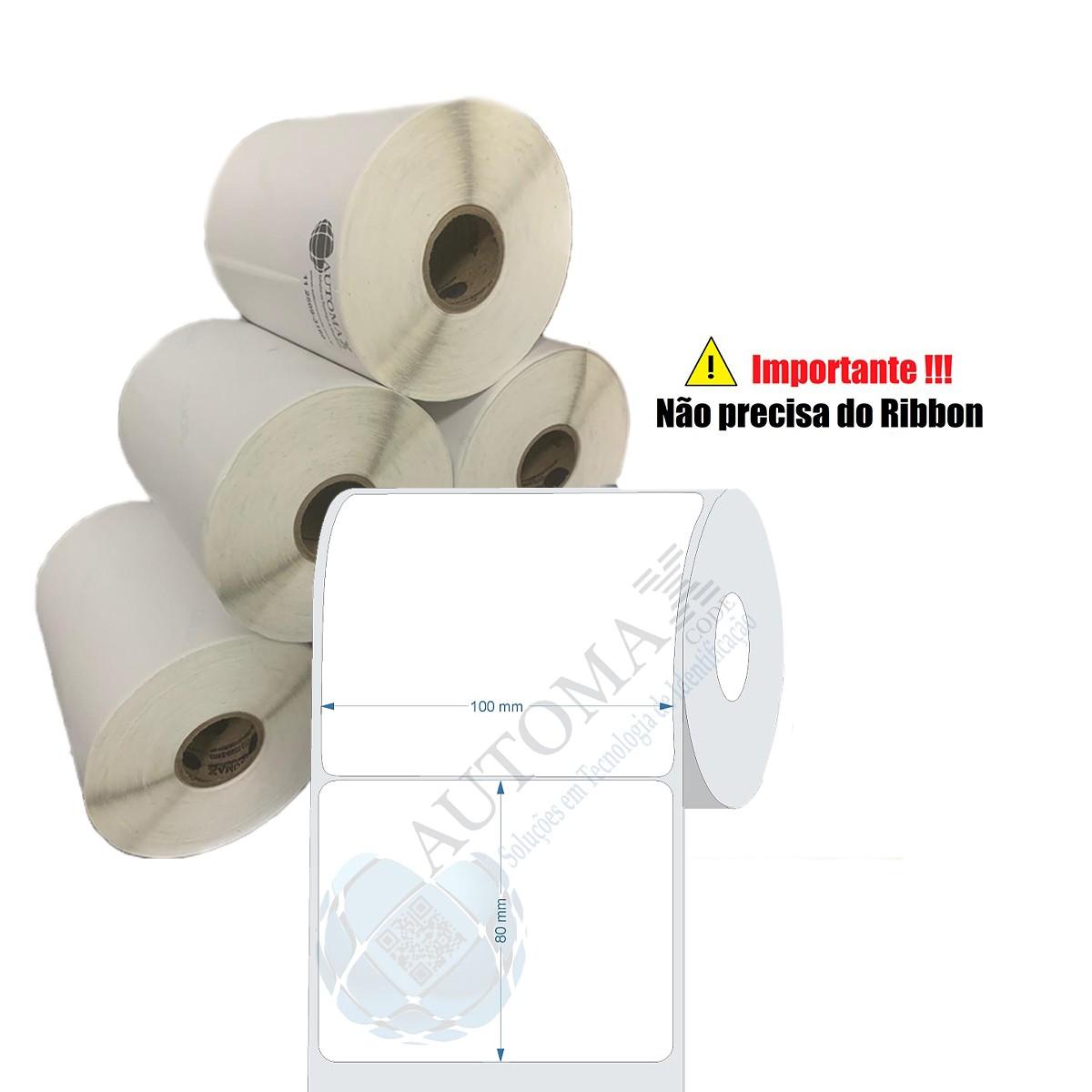 10 Rolos de Etiqueta Térmica 100x80| 100mmX80mm