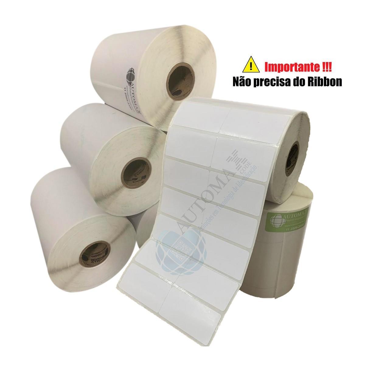 10 Rolos de Etiqueta Térmica 50x25 | 50mmX25mm 2 Colunas
