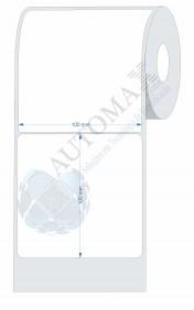 10 Rolos de Etiqueta Couche 10x10cm | 100mmX100mm