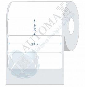 10 Rolos de Etiqueta Couche 10x3cm | 100mmX30mm