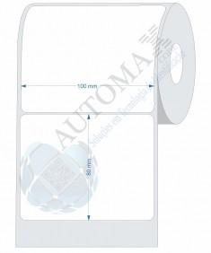 10 Rolos de Etiqueta Couche 10x8cm | 100mmX80mm
