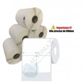 10 Rolos de Etiqueta Térmica 100x60| 100mmX60mm