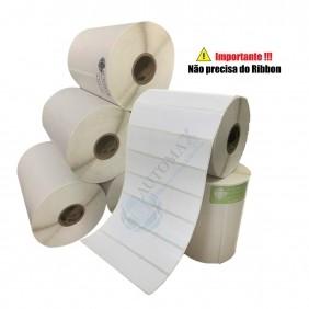 10 Rolos de Etiqueta Térmica 34x23 | 34mmX23mm 3 Colunas
