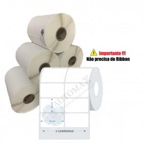 10 Rolos de Etiqueta Térmica 50x30| 50mmX30mm 2 Colunas