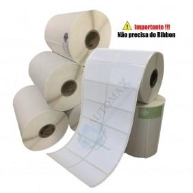 10 Rolos de Etiqueta Térmica 50x30  50mmX30mm 2 Colunas