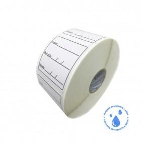10 Rolos Etiqueta Adesiva BOPP 40x40 | Anvisa para Alimentos Manipulados