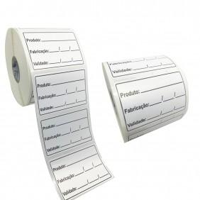 48 Rolos Etiqueta Adesiva Couche 60x40 | Anvisa para Alimentos Manipulados