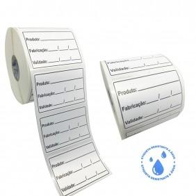 Etiqueta Adesiva BOPP 60x40 | Anvisa para Alimentos Manipulados