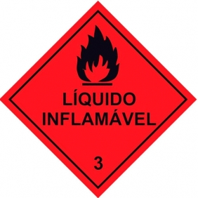 Etiqueta Simbologia Meio Ambiente Substancia Inflamável