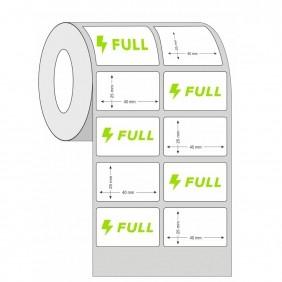 Kit 20 Rolos de Etiqueta Térmica 40X25 2 Colunas Branca | Mercado Full