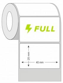 Kit 20 Rolos de Etiqueta Térmica 40X25 Branca | Mercado Full