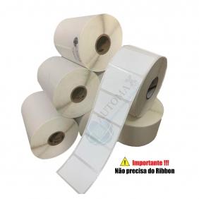 Kit 40 Rolos de Etiqueta Térmica 40X25 Branca   Mercado Full