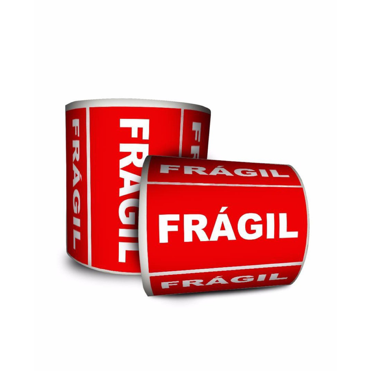 24 Rolos de Etiqueta Adesiva Selo Frágil 10x5cm | 100mmX50mm