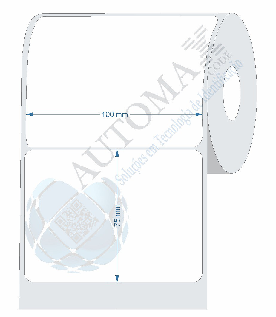 40 Rolos de Etiqueta Couche 10x7,5cm | 100mmX75mm