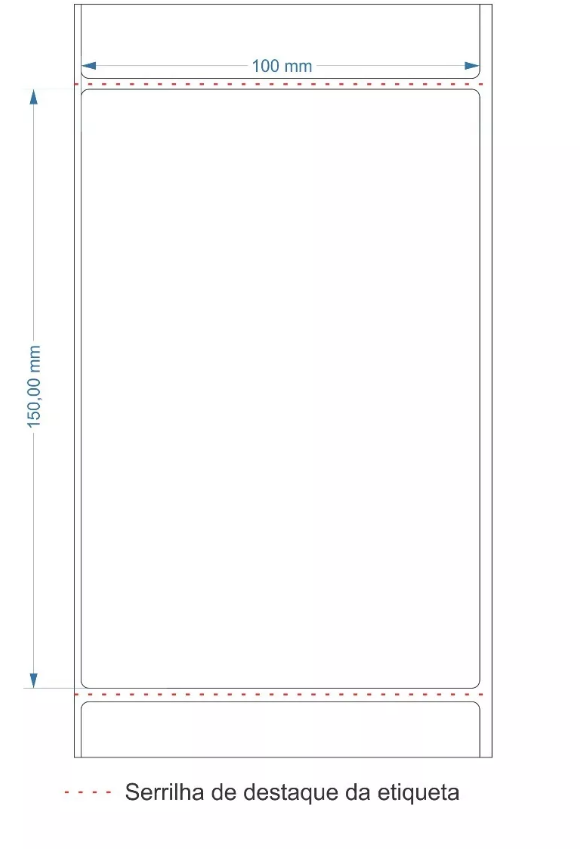 40 Rolos de Etiqueta Couche 10x15cm | 100mmX150mm