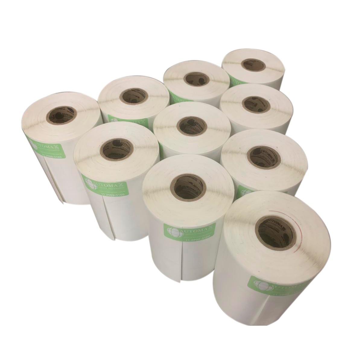 40 Rolos de Etiqueta Couche 50x50 | 50mmX50mm 2 Colunas