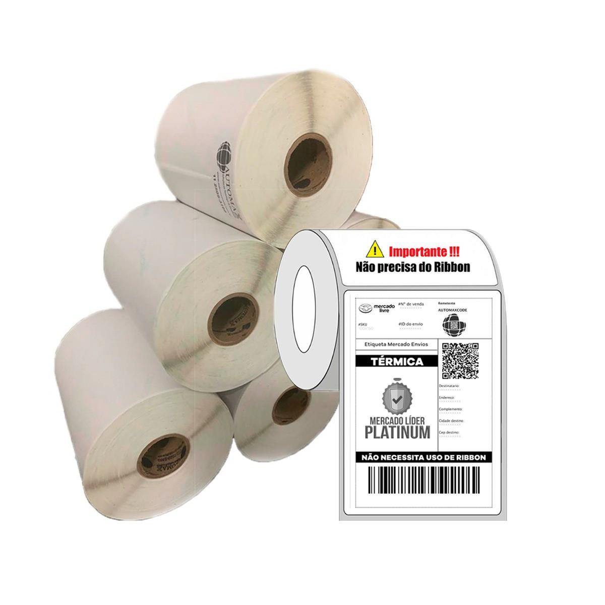 40 Rolos de Etiqueta Térmica 10x15cm | 100mmX150mm