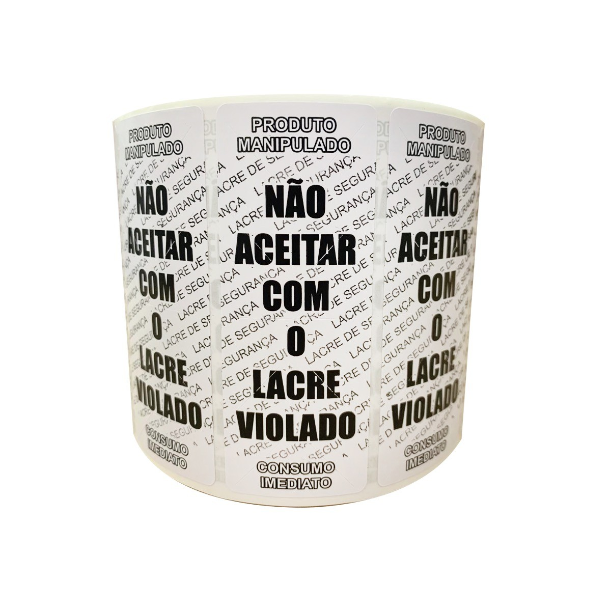 Etiqueta Adesiva Lacre para Delivery 90mmX35mm Preto