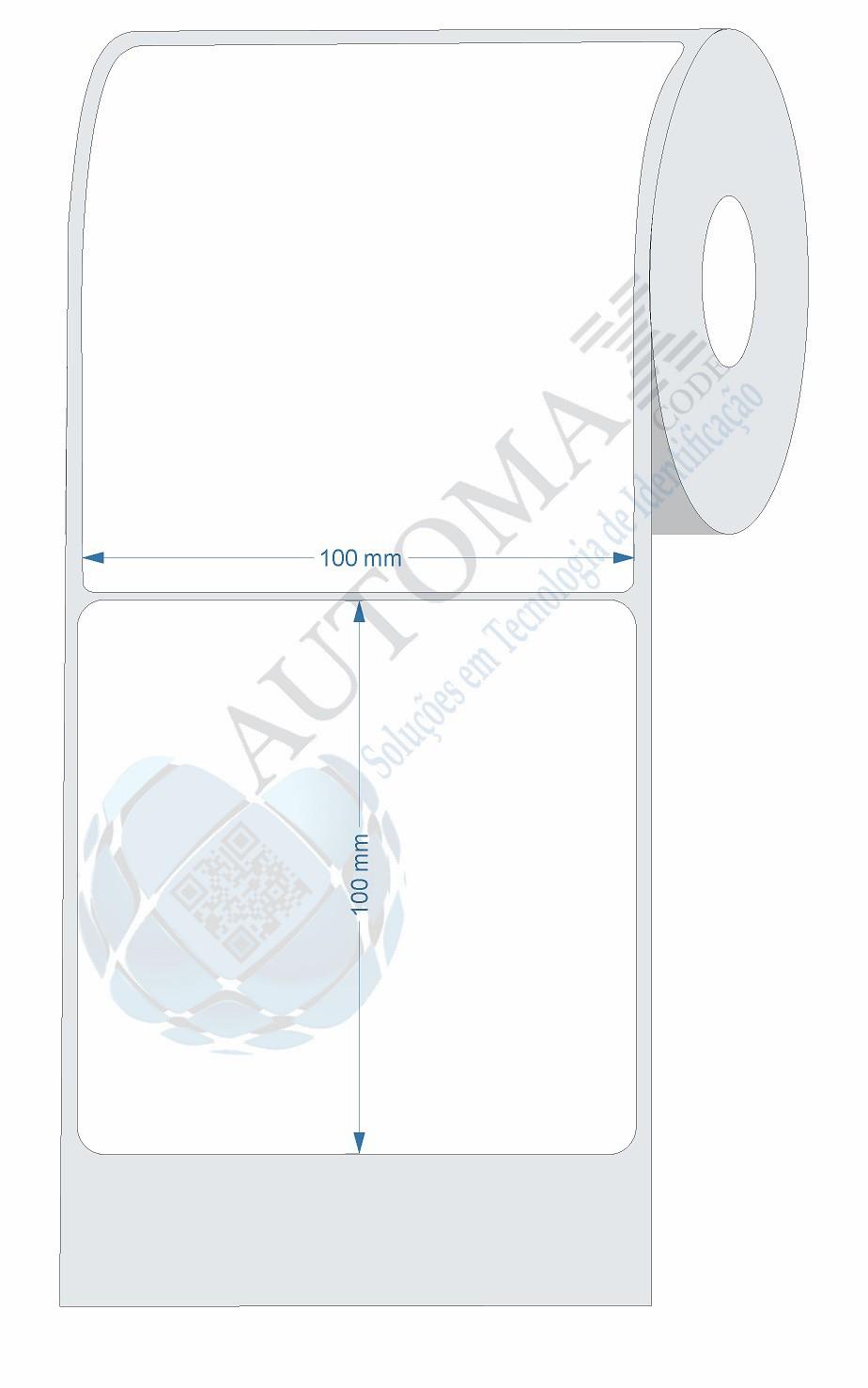 Etiqueta Couche 10x10cm | 100mmX100mm