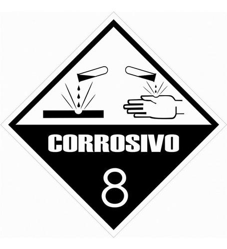 Etiqueta Simbologia Meio Ambiente Substancia Corrosivo