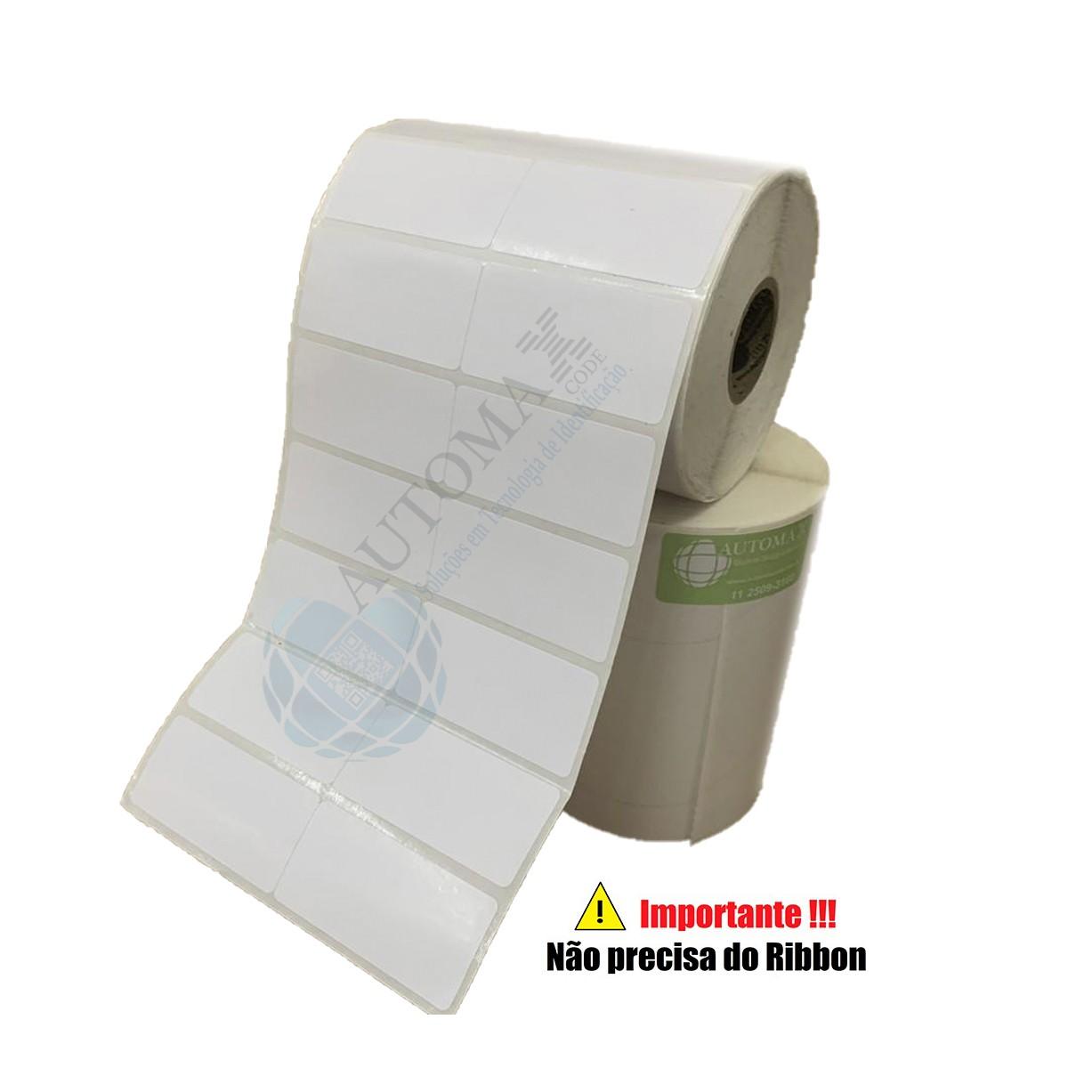 Etiqueta Térmica 40X25 2 Colunas Branca | Mercado Full