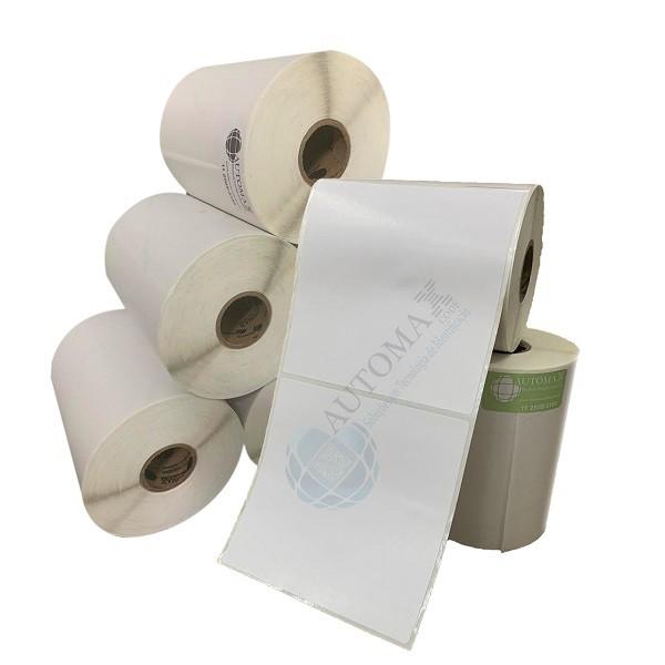 Kit 10 Rolos de Etiqueta Couche 100x100 + 5 Rolos de Ribbon