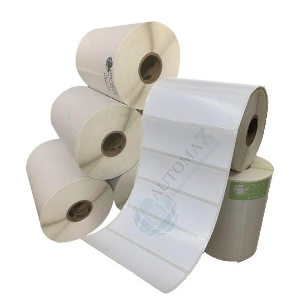 Kit 10 Rolos de Etiqueta Couche 100x30 + 5 Rolos de Ribbon