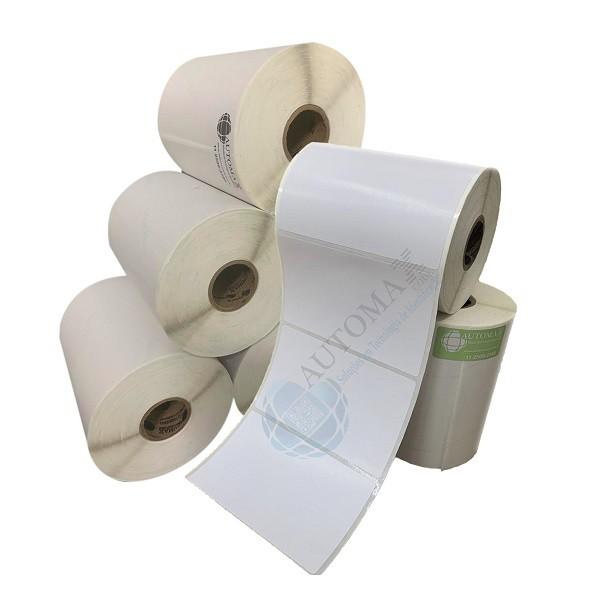 Kit 10 Rolos de Etiqueta Couche 100x60 + 5 Rolos de Ribbon