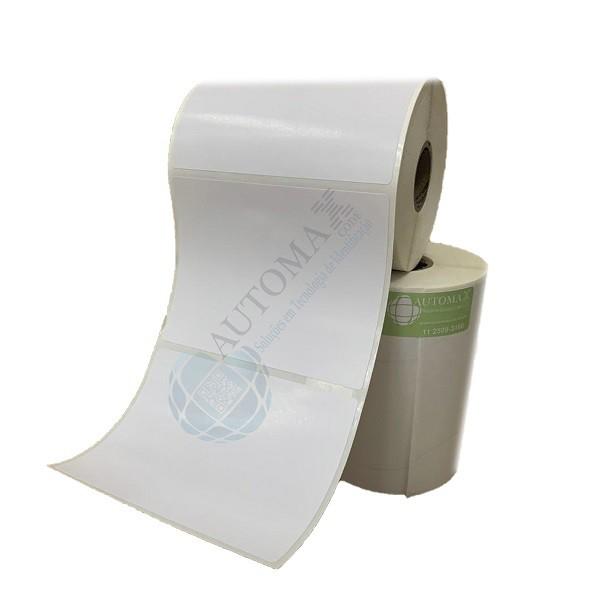 Kit 10 Rolos de Etiqueta Couche 100x80 + 5 Rolos de Ribbon