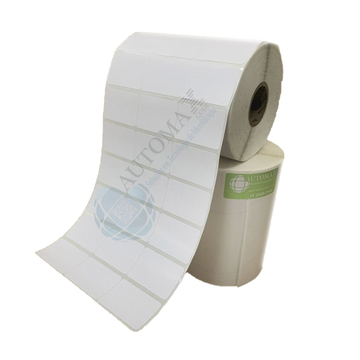 Kit 10 Rolos de Etiqueta Couche 34x23 + 5 Rolos de Ribbon