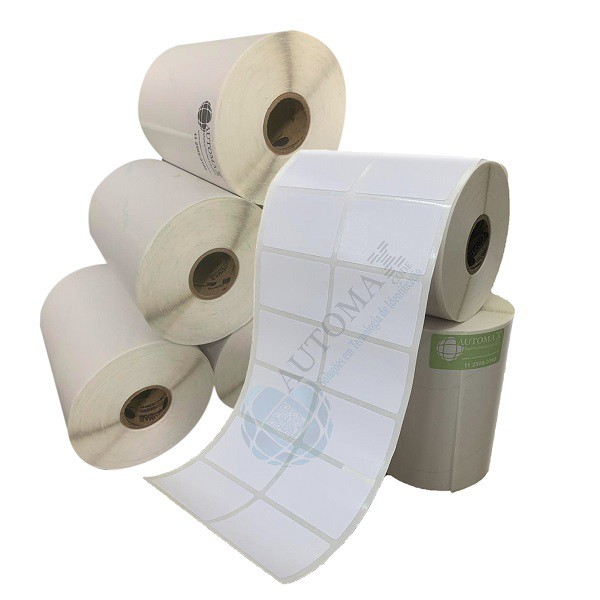Kit 10 Rolos de Etiqueta Couche 50x30 + 5 Rolos de Ribbon