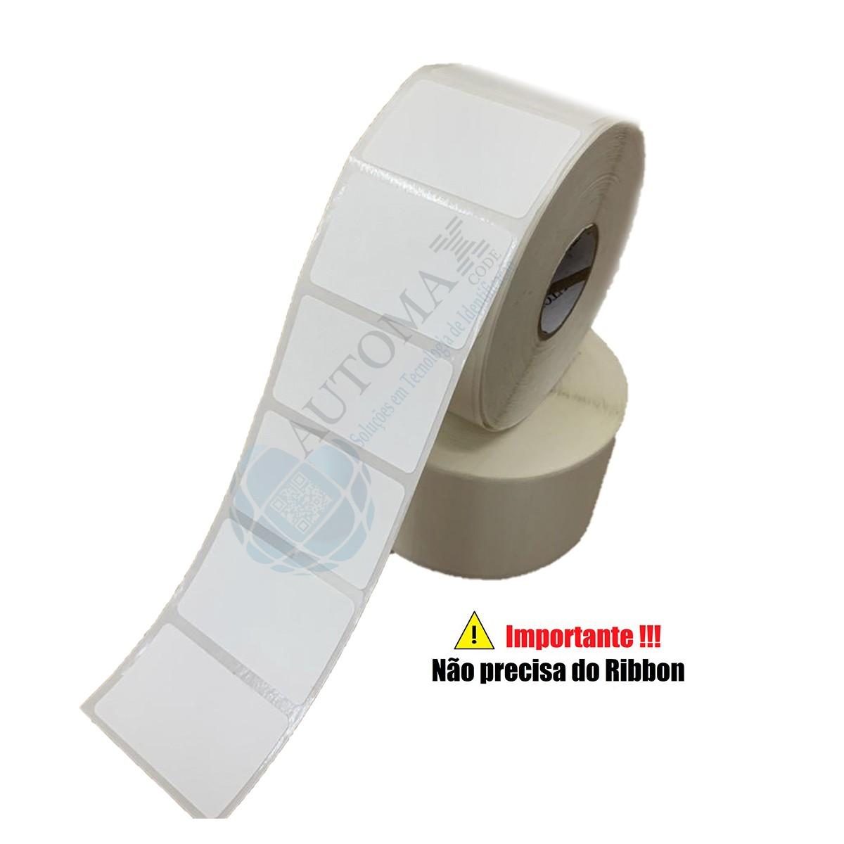 Kit 10 Rolos de Etiqueta Térmica 40X25 Branca | Mercado Full