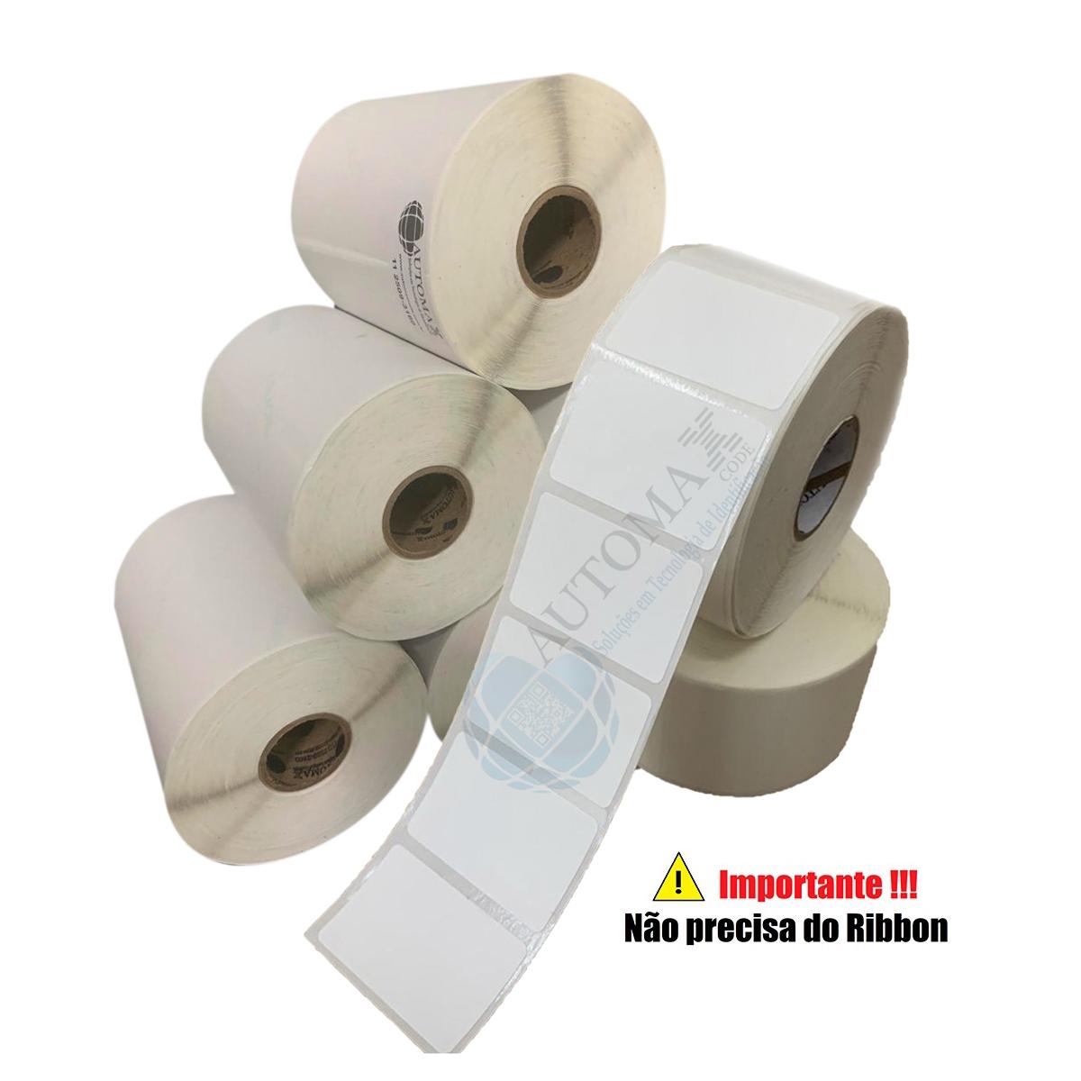 Kit 40 Rolos de Etiqueta Térmica 40X25 Branca | Mercado Full